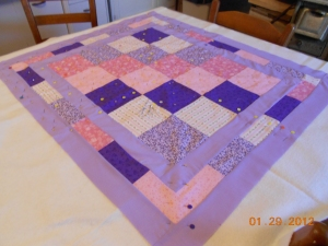 Melisa Kele's baby quilt