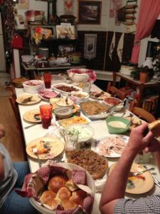 Thanksgiving dinner 2011-after everyone is finished eating.