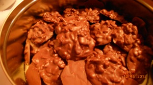 Chocolate peanut pretzel candy