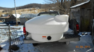 It holds 210 gallons and it was specifically purchased just for sugar maple processing!!