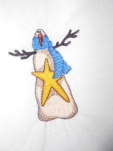 Embroidered snowmen for another quilt (1)