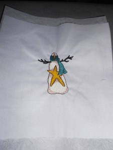 Embroidered snowmen for another quilt (2)