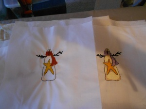 Embroidered snowmen for another quilt (3)