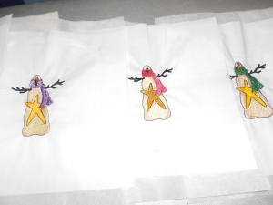 Embroidered snowmen for another quilt (4)