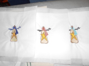 Embroidered snowmen for another quilt (6)