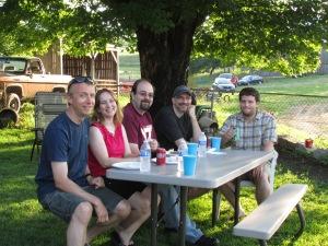 Keith & KIm, Matt, Tim and Jason, all friends of Shawns and work mates.
