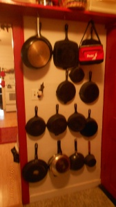 Pantry and my iron skillets