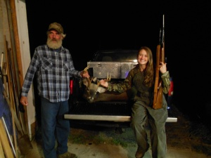 Victoria's last year to early hunt (Youth Day)!!  Papa and Victoria very proud.