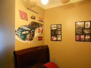 Deans side of the room that he decorated with help from the staff.