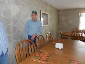 He gave us a tour of the dining room where he likes to help prepare for meals by setting the table, pouring their drinks and cleaning up after meals.  He never did that at my house!!  ;)