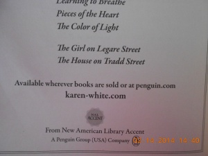 Karen White Legare St Trilogy-1st two books.