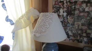 Dress up a simple lamp.