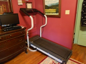 Treadmill to use when it's too cold to get outside and walk.