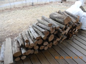 You just can't be a good wood fire with the winter we've had.