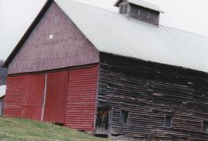 One of two very large barns on the farm.