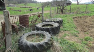 Tire planters moved to new area