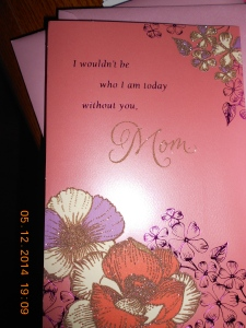Mother's Day card from my daughter.