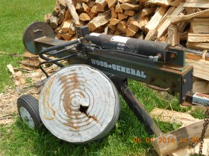 Wood General wood splitter has saved a lot of sore muscles and pain the back!