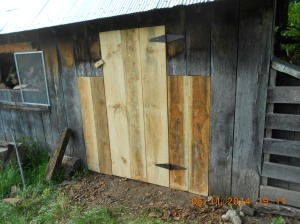 First time he made a door from scratch.