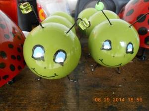 Two happy little caterpillars