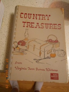 This cookbook I purchased while working with the Craig County Farm Bureau Women's Committee.  It's out of print the last I checked but love giving it as a gift.  Wonderful cooks in Virginia.