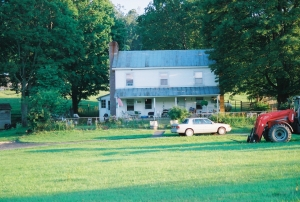 View of the house from the front yard