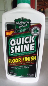 Holloway House Quick Shine floor finish.