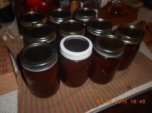 Apple butter on toast for breakfast. Peanut butter and apple butter sandwich for lunch!