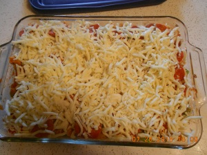 Cavatini ready to pop in the oven.