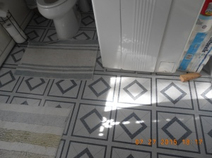 New tile, fresh and clean.