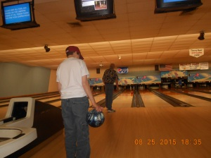 They took turns and used each others bowling balls.