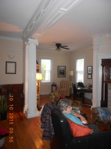 Ashley's living room where we gathered in the mornings and crashed in the evenings!