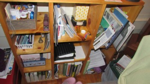 My bookshelf is my keeping area for all of the project ideas.