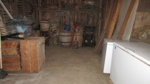 Wide open space in the smokehouse.