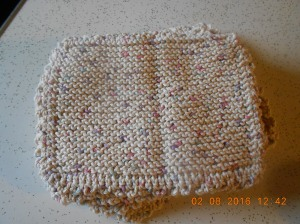 Hand knitted dishcloths that are the perfect size for my hands and they last forever (almost)!