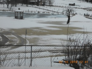 "Rivers running under the 9"" of snow we got Sunday night and Monday."