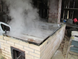 Firepit in sugar house