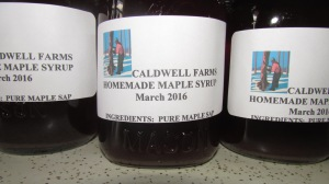Caldwell Farm labels include the date made and the ingredients.  We do not add any preservatives or other sugars.