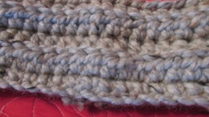 Half-double crochet stitch