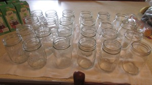 Sterlized pint jars