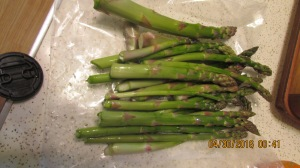 Asparagus bundle by the pound for $2.50
