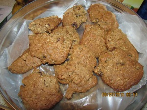 My favorite recipe for Oatmeal Raisin cookies and the Mr.'s favorite.