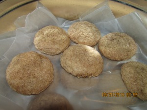 Snickerdoodles is one of the easiest recipes you can make and they're really good.