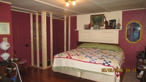 New Closet framed for master bedroom 05052016 (1)