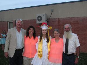Parents, Victoria, and maternal grandparents.