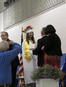 Diploma from high school principal.