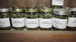 Pickle relish, I think 23 pints.