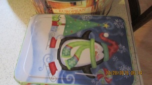 Christmas tin of goodies from Carol.