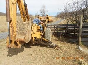 Heavy equipment at new holding pen
